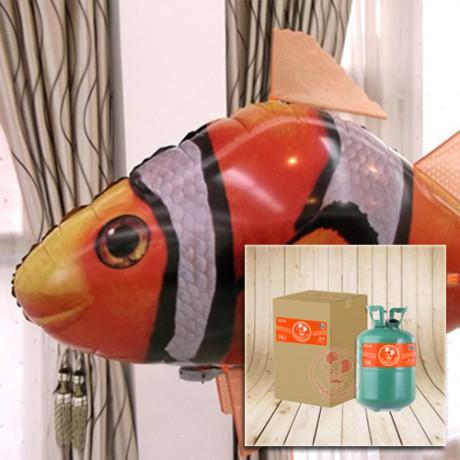 "60"" Flying clownfish + 13L Heilium"