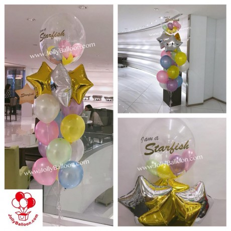 """24"""" Color Printing Crystal Balloon Bundle (Commercial Package L)"""