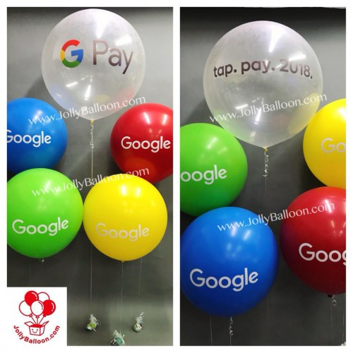 Round Latex Balloon with Sticker (Commercial Package N)