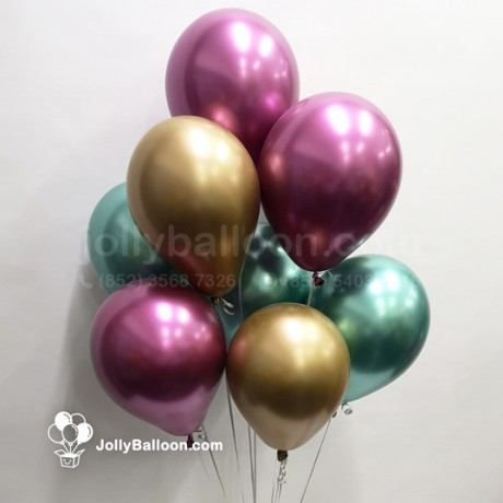 Chrome Latex Balloon 1 Set