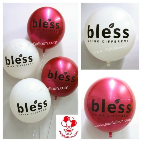 """16"""" Round Balloon Color Printing Company Logo (Commercial Package F)"""