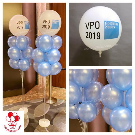 """16"""" Foiled Round Balloon Color Printing Company Logo (Commercial Package E)"""